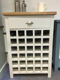 painted wine rack in f u0026b pavilion gray with a rustic pine top