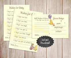 this listing is for an instant printable wishes for baby