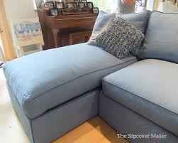 Light Blue Sectional Sofa Blue Canvas Slipcover For Big Sectional Sofa The Slipcover Maker