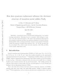 influence of quantum confinement on the electronic structure of