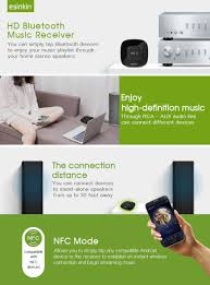 wireless speaker adapter for home theater amazon com esinkin bluetooth receiver wireless audio adapter 4 0