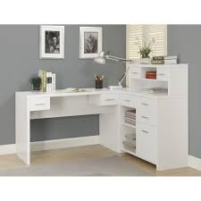Office Desk With Hutch L Shaped Funiture Corner Office Desk Ideas Using Corner White Wooden