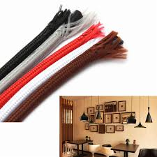 Electric Cable 11 Candy Color 10m Lot 0 75mm Vintage Fabric Electrical Cable