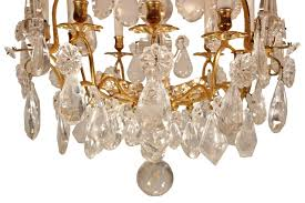 Expensive Crystal Chandeliers by French Mid 18th Century Louis Xv Period Rock Crystal And Ormolu