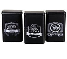 black canisters for kitchen kitchen canisters jars ebay