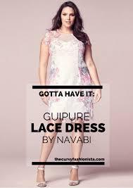 gotta have it guipure plus size lace dress by navabi