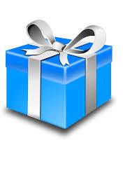 blue gift clip art at clker com vector clip art online royalty