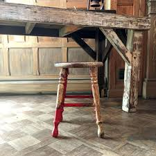 Antique Home Decor Vintage Wood Stool Shabby Chic Stool Perfectly Distressed Stool