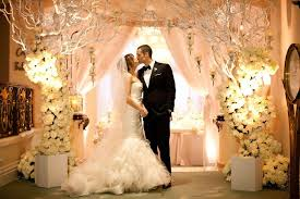 wedding arches made of tree branches glamorous winter wedding in beverly california inside