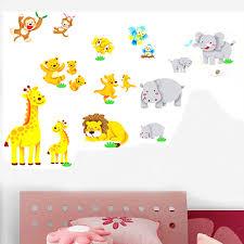 aliexpress com buy pvc cartoon jungle animal wall sticker