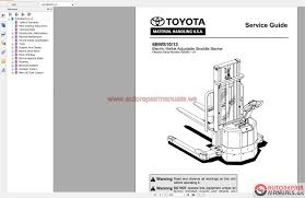 Toyota Forklift Truck Full Set Manual Dvd Auto Repair Manual