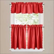 Tie Up Valance Kitchen Curtains Kitchen Stunning Red Kitchen Curtains And Valances Pictures