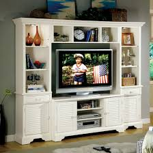 delightful home design with white entertainment center and