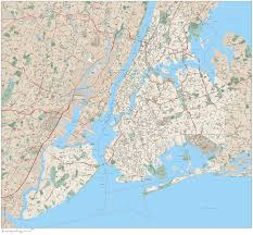 Large Map Of United States by Large Road Map Of New York City New York Usa United States Of