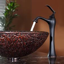 Vessel Sink Faucets Oil Rubbed Bronze Bathroom Glass Vessel Sink And Faucet Combination Kraususa Com
