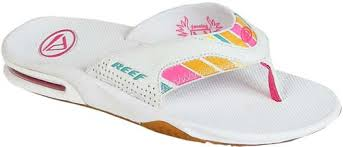 reef fanning flip flops womens reef fanning women s sandal white multi for sale at surfboards