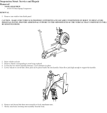 how to instructions on replacing rear struts on 2001 saturn sl2