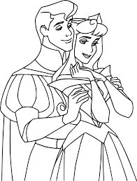 disney story aurora and phillip coloring pages wecoloringpage