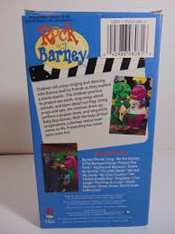 barney rock with barney vhs 1991 classic collection rare