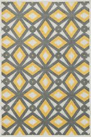 Yellow And Gray Outdoor Rug Loloi Rugs Oasis Gray Lemon Indoor Outdoor Area Rug Allmodern
