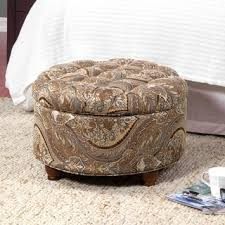 Noah Tufted Storage Ottoman Shop For Homepop Button Tufted Round Storage Ottoman Brown And Tel