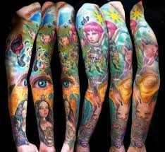 exotic bold sleeve tattoos tattoo designs