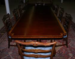 inlaid dining table and chairs banded inlaid modern dining room table with a set of 8 1940s ribbon