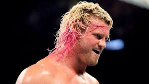 dolph ziggler had his hair pink here wrestling favorites
