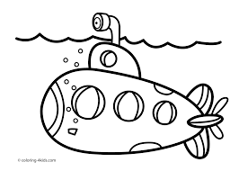 submarine transportation coloring pages for kids coloring pages