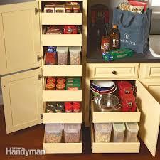 kitchen cupboard interior storage kitchen cabinet storage popular rollouts the family handyman with