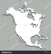 N America Map by 3d North America Map On Grey Stock Illustration 93564115