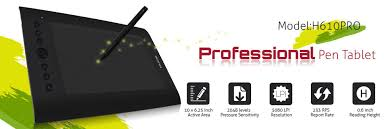 huion h610 pro art graphics drawing tablet 10