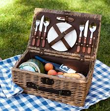 picnic basket ideas rattan picnic basket for 2 pottery barn