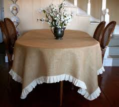 Dining Room Tablecloth by Dining Room With Burlap Tablecloth Featured Ruffles Choosing The