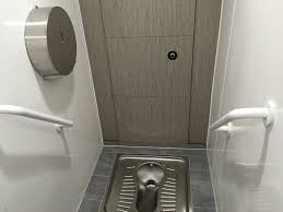 Toilet Stainless Steel Squat Toilets In Modern British Washrooms Commercial Washrooms