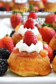 gluten free mini pineapple upside down raspberry cakes breezy bakes