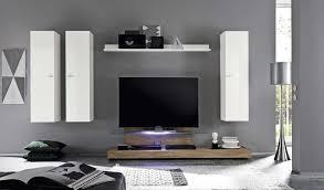 mensole laccate lucide parete attrezzata moderna l 309 cm bianco laccato lucido con base
