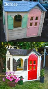 we could just bring the playhouse out from the nursery and set it