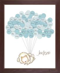 sheep baby shower sheep theme baby shower guestbook print boy