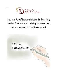 Square Meter Square Foot Or Square Meter Estimating Under Free Online Training Of U2026