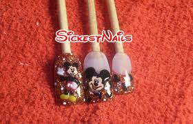 acrylic nail design 3d mickey mouse inspired nails 6 youtube