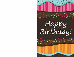 birthday card dots and stripes kids half fold office templates