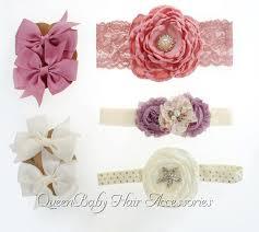 flower headbands diy diy fabric flower headband set mauve ivory headbands baby hair