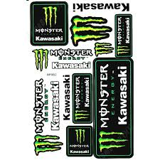 mrs0127 green kawasaki m0nster energy decals stickers motorcycle