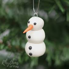 image result for snowman ornament clay
