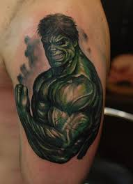 ivan bor colour tattoo incredible hulk by hammersmithtattoo on