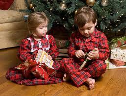 matching sibling pajamas decore