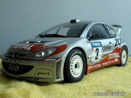 peugeot 206 rally autoart cruiser autoart 1 18 peugeot 206 wrc rally car in new