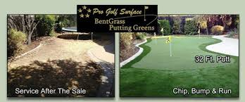 Backyard Golf Green by Quality Backyard Putting Green Surfaces