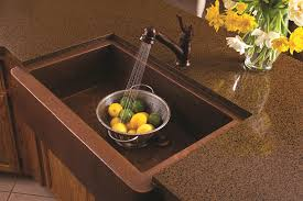 oil rubbed bronze finished kitchen faucet granite